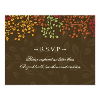 Tarjetas de contestación del boda de la caída invitación 10,8 x 13,9 cm