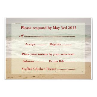 """Tarjetas de contestación del boda de playa - playa invitación 3.5"""" x 5"""""""