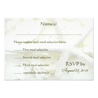 Tarjetas de contestación del menú del boda del jar invitaciones personales