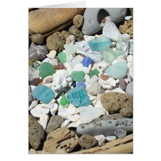 Tarjetas de cristal de los fósiles de los Seashell