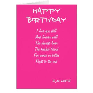 Tarjetas de cumpleaños de la exmujer