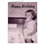 Tarjetas de cumpleaños del chica de la foto del vi