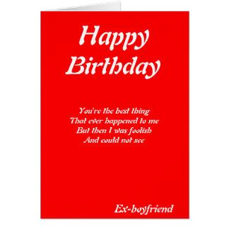 tarjetas de cumpleaños del Ex-novio