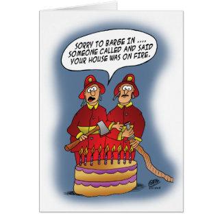 Tarjetas de cumpleaños divertidas: Alarma de incen