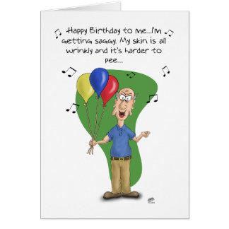 Tarjetas de cumpleaños divertidas: Melodía del cum