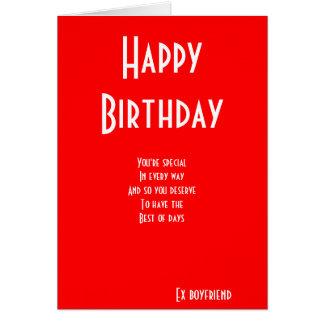 Tarjetas de cumpleaños especiales del ex novio
