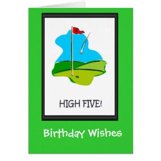Tarjetas de cumpleaños Golfing, el agujero final
