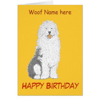 Tarjetas de cumpleaños inglesas viejas del perro p