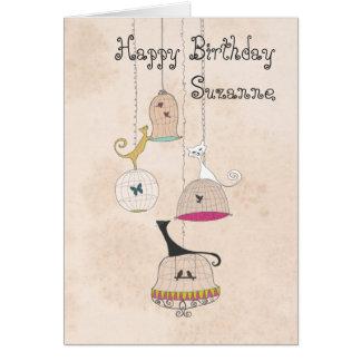 Tarjetas de cumpleaños locas de los Birdcages de s
