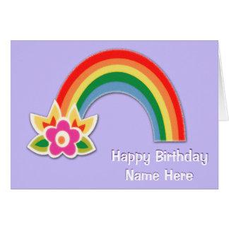 Tarjetas de cumpleaños personalizadas del arco