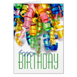 Tarjetas de cumpleaños rizadas de la cinta