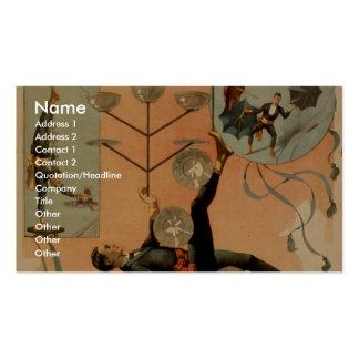 """Tarjetas de dibujo, """"Eldora"""", juglar del mundo Plantillas De Tarjeta De Negocio"""