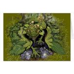 Tarjetas de Dragon~greeting del follaje del bosque