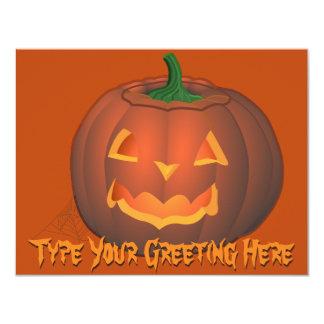 """Tarjetas de encargo de Halloween de las Invitación 4.25"""" X 5.5"""""""