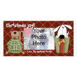 Tarjetas de encargo de la foto de la alegría del n plantilla para tarjeta de foto