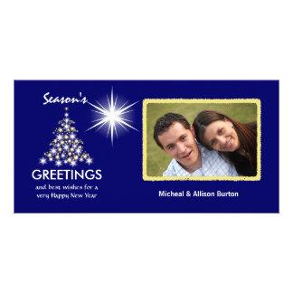 Tarjetas de encargo de la foto del día de fiesta tarjetas personales con fotos