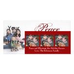 Tarjetas de encargo de la foto del navidad de la p tarjeta fotográfica personalizada