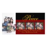 Tarjetas de encargo de la foto del navidad de la p tarjetas fotográficas
