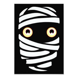"""Tarjetas de encargo de la momia de Halloween de Invitación 3.5"""" X 5"""""""