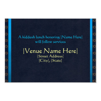 """Tarjetas de encargo de la recepción de Mitzvah de Invitación 3.5"""" X 5"""""""