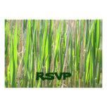 Tarjetas de encargo de RSVP de la falda de hierba Comunicados Personales