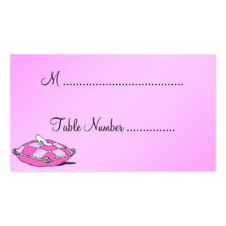 Tarjetas de encargo del lugar de la tabla del rosa tarjetas de visita
