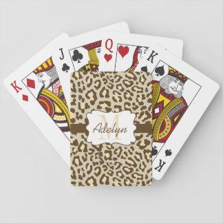 Tarjetas de encargo del melocotón del moreno de barajas de cartas