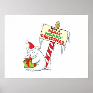 Tarjetas de encargo Norte de Polo del navidad Posters
