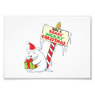 Tarjetas de encargo Norte de Polo del navidad Foto