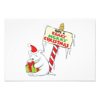 Tarjetas de encargo Norte de Polo del navidad Arte Fotográfico