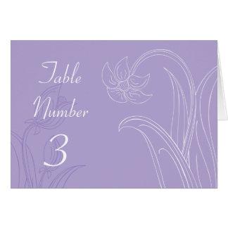 Tarjetas de encargo púrpuras del número de la