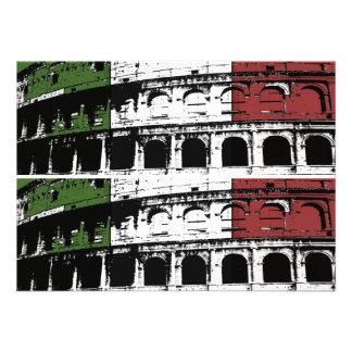 Tarjetas de encargo romanas contemporáneas del col invitacion personalizada
