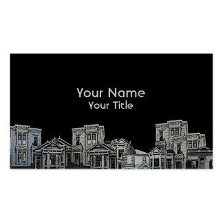 Tarjetas de encargo viejas de las propiedades tarjetas de visita