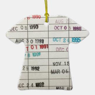 Tarjetas de fecha debida de la biblioteca del adornos