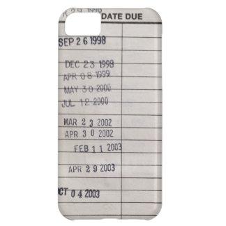 Tarjetas de fecha debida de la biblioteca del funda para iPhone 5C
