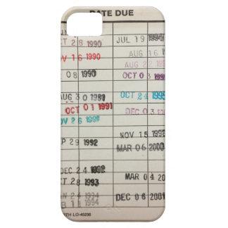 Tarjetas de fecha debida de la biblioteca del iPhone 5 fundas