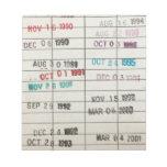 Tarjetas de fecha debida de la biblioteca del vint blocs de notas