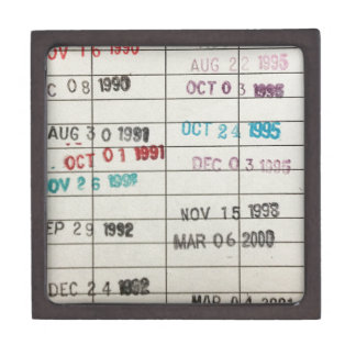 Tarjetas de fecha debida de la biblioteca del vint caja de regalo de calidad