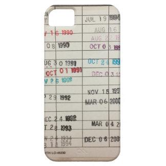 Tarjetas de fecha debida de la biblioteca del vint iPhone 5 Case-Mate coberturas
