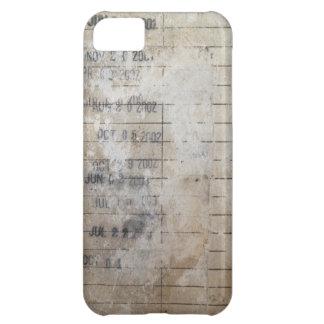 Tarjetas de fecha debida de la biblioteca del vint funda para iPhone 5C