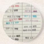 Tarjetas de fecha debida de la biblioteca del vint posavasos cerveza