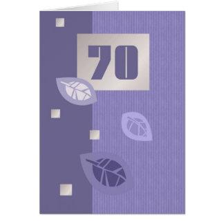 Tarjetas de felicitación adaptables del 70.o cumpl