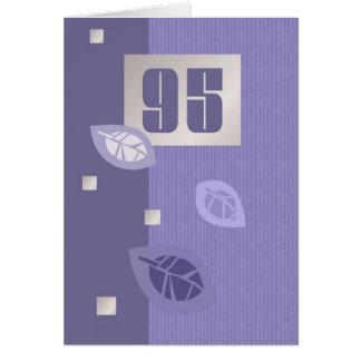 Tarjetas de felicitación adaptables del 95.o cumpl