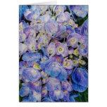 Tarjetas de felicitación azules de la flor del Hyd