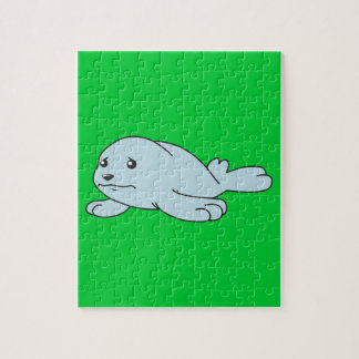 Tarjetas de felicitación azules gritadoras de cría rompecabeza con fotos