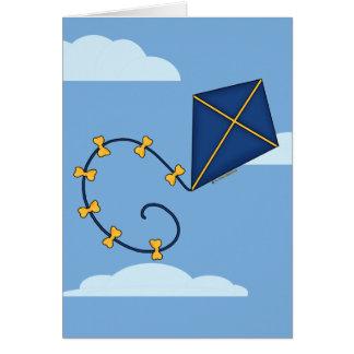 Tarjetas de felicitación azules lindas de la comet