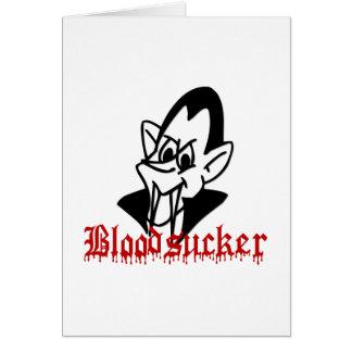 Tarjetas de felicitación Bloodsucking de Halloween