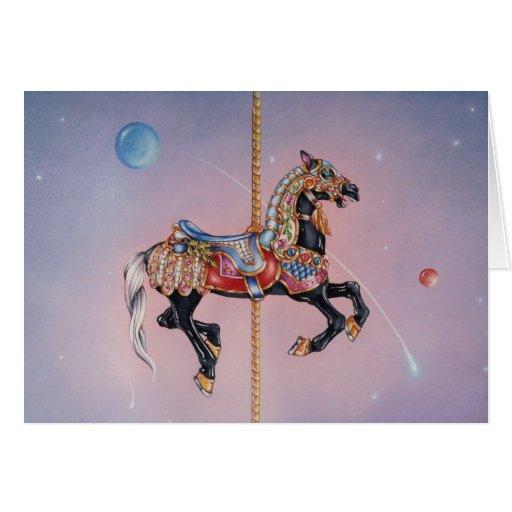 Tarjetas de felicitación - caballo 1 del carrusel