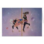 Tarjetas de felicitación - caballo 2 del carrusel