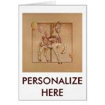 Tarjetas de felicitación - carrusel púrpura del po